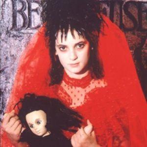 "Lydia ""Beetlejuice"" Red Halloween Wedding Dress"